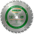 "WOOD RIPPING SAW BLADES 12"" X 1"" X 28T"