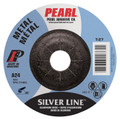 "Pearl SILVERLINE 5"" x 1/4"" x 7/8"" Depressed Center Grinding Wheel (Pack of 25)"