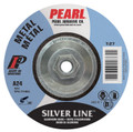 "Pearl SILVERLINE 7"" x 1/4"" x 5/8""-11 Depressed Center Grinding Wheel (Pack of 10)"
