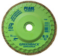 "Pearl GREENBACK 4-1/2"" x 5/8""-11Trimmable Zirconia Flap Disc - 80 GRIT (Pack of 10)"