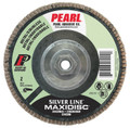 """Pearl Silver Line 4-1/2"""" x 5/8""""-11 Zirconia T27 Flap Disc - 120 GRIT (Pack of 10)"""