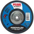 """Pearl 5"""" x 1/8"""" x 5/8""""-11 Grinding Wheel 36 Grit  TYPE 27 - Metal (Pack of 10)"""