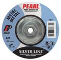 "Pearl SILVERLINE 4"" x 1/4"" x 3/8"" Depressed Center Grinding Wheel (Pack of 25)"