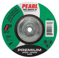 "Pearl Premium 4 1/2"" x 1/4"" x 5/8""-11 Depressed Center Grinding Wheel - Stainless (Pack of 10)"