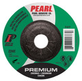 "Pearl Premium 4-1/2"" x 1/4"" x 7/8"" Depressed Center Grinding Wheel - Stainless (Pack of 25)"