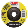 "Pearl Premium 4"" x 1/4"" x 5/8"" Depressed Center Grinding Wheel - Aluminum (Pack of 25)"
