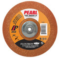 "Pearl 4-1/2"" x 1/8"" x 5/8""-11 Flextron SRT Grinding Wheel 36 Grit  TYPE 27 - Metal (Pack of 10)"