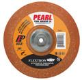 "Pearl 4-1/2"" x 1/8"" x 5/8""-11 Flextron SRT Grinding Wheel 120 Grit  TYPE 27 - Metal (Pack of 10)"