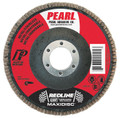 "Pearl RedLine 4-1/2"" x 7/8"" CBT T27 Flap Disc - 40 GRIT (Pack of 10)"