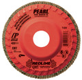 "Pearl REDLINE 4-1/2"" x 7/8"" CBT Trimmable Flap Disc - 40GRIT (Pack of 10)"