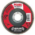 "Pearl RedLine 4-1/2"" x 7/8"" CBT T29 Flap Disc - 60 GRIT (Pack of 10)"