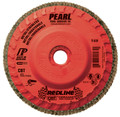 "Pearl REDLINE 5"" x 5/8""-11 CBT Trimmable Flap Disc -80 GRIT (Pack of 10)"
