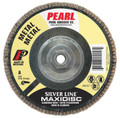 "Pearl Silver Line 4-1/2"" x 5/8""-11 AL/OX T27 Flap Disc - 120 GRIT (Pack of 10)"