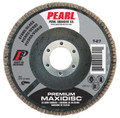 "Pearl Premium 4"" x 5/8"" Silicon Carbide T27 Flap Disc - 80 GRIT (Pack of 10)"