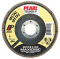 "Pearl Silver Line 7"" x 7/8"" AL/OX T27 Flap Disc - 120 GRIT (Pack of 10)"