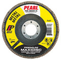 "Pearl Premium 4 1/2"" x 5/8""-11 AL/OX T27 Flap Disc - 120 GRIT (Pack of 10)"