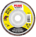 "Pearl Classic 4-1/2"" x 7/8"" AL/OX T27 Flap Disc - 60 GRIT (Pack of 10)"