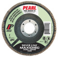 """Pearl Silver Line 7"""" x 7/8"""" Zirconia T27 Flap Disc - 120 GRIT (Pack of 10)"""