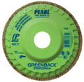"Pearl GREENBACK 4-1/2"" x 7/8""Trimmable Zirconia Flap Disc - 80 GRIT (Pack of 10)"