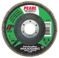 "Pearl StainlessMax 4-1/2"" x 7/8"" Zirconia T27 Flap Disc - 60 GRIT (Pack of 10)"
