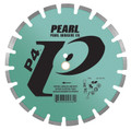 "Pearl 14"" x .125 x 20mm  P4 Asphalt and Green Concrete Blade"