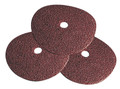 "9"" x 7/8"" 16Grit AL/OX Silver Line Resin Fiber Disc (25 Pack)"