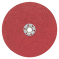 "Pearl 7"" x 5/8""-11 80Grit Redline Ceramic Resin Fiber Disc (25 Pack)"
