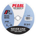 "Pearl 4 1/2"" x 1/16"" x 7/8"" Silver Line AL/OX Cut-Off Wheel (Pack of 25)"
