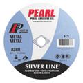 "Pearl 4 1/2"" x 1/16"" x 7/8"" Silver Line AL/OX Cut-Off Wheel (Pack of 25)"