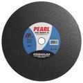 "Pearl 16"" x 3/16"" x 1"" Premium A36S Chop Saw Wheels - Metal (Pack of 10)"