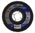 "Norton Bluefire 4-1/2""x7/8"" 40 Grit Zirconia Flap Disc  10 Pack"