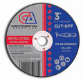 "Continental Cut-Off Wheel 3"" x 1/16"" x 3/8""  Metal Cutting (Pack of 25)"