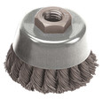"Pearl Wire Brush - Knot Cup - 4"" x .020"" x 5/8-11"