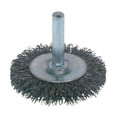 "Wire Brush - Crimped Wheel End Brush - 3"" x .0118"" x  1/4"""