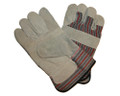 Leather Patch Palm Gloves - One Size