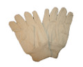 White Cotton Canvas Gloves - One Size