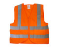 Safety Vest Orange High Visability with 2 Pockets