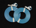 "Pre-Cut Strapping ""BLUE"" w/Buckle 1/2"" x 17' - 500"