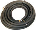 "Water Hose Continental ContiTech Industrial 5/8"" x 75' Black Rubber 200psi - USA"
