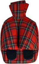 Hot Water Bottle Footwarmer: Red Tartan Check