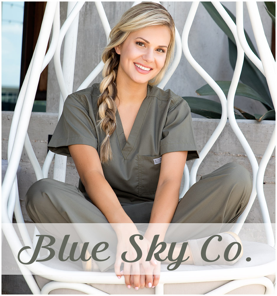 b28b2684f12 Blue Sky Co. is proud to offer a line of excellent, perfectly fitting  medical scrubs that not only look professional and stylish, but last much  longer than ...