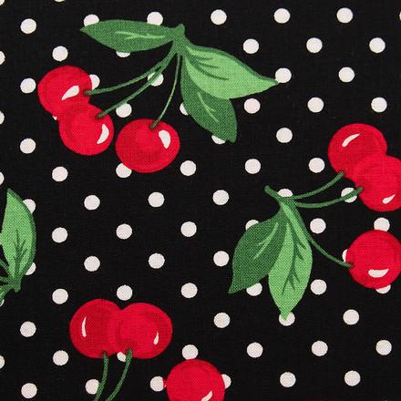 Black Cherry Poppy Surgical Head Caps