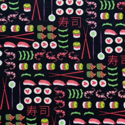 Sushi Spread Poppy Scrub Caps