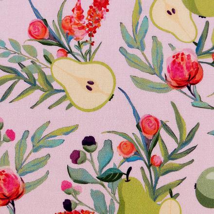 Pear Branch Bouquet Poppy Scrub Caps
