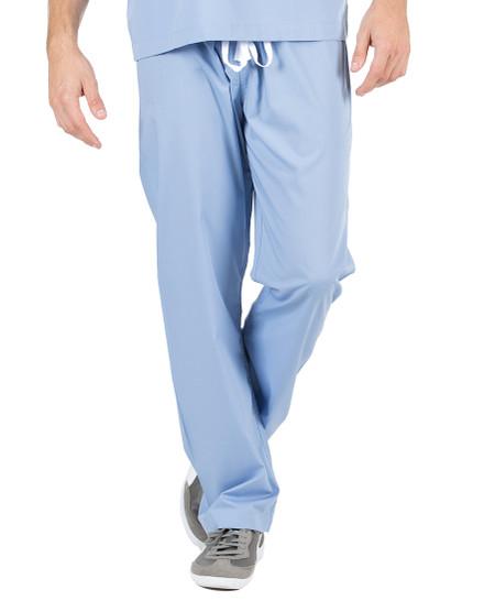 """Small Tall 34"""" - Ceil Blue David Simple Scrub Pants"""