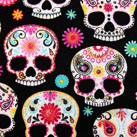 Sweet Sugar Skulls Poppy Surgical Hats