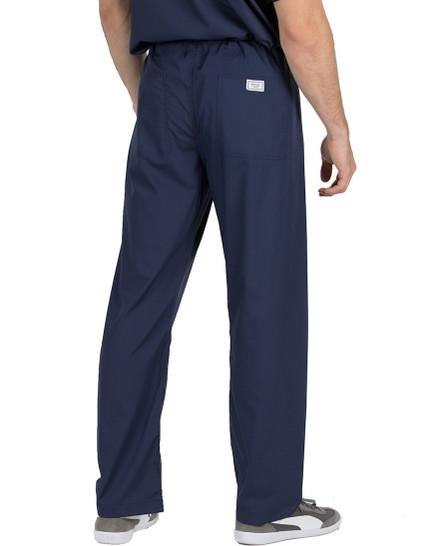 "Large Tall 34"" - Navy Blue David Simple Scrub Pants"