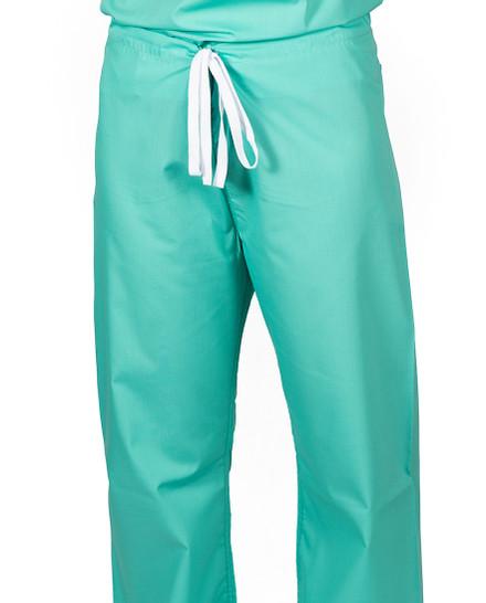 """Small Tall 32"""" Carnegie Green - Classic Simple Scrub Pants"""