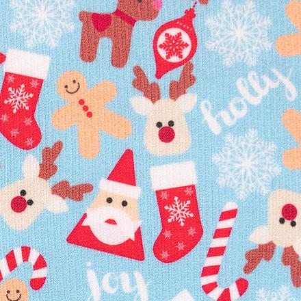 Blue Christmas Compression Scrubs Socks