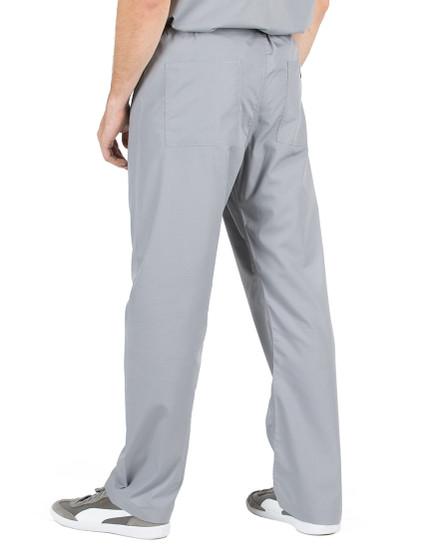 Small Slate Grey David Simple Scrub Pants